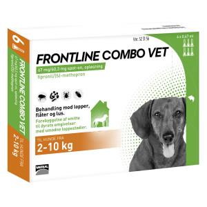 frontline combo hund 2 10 kg 6 stk hund. Black Bedroom Furniture Sets. Home Design Ideas
