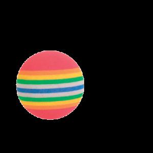 Regnbuebolde 3,5 cm 4 stk