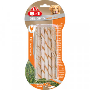 8in1 Delights Twisted Sticks, 10 stk.