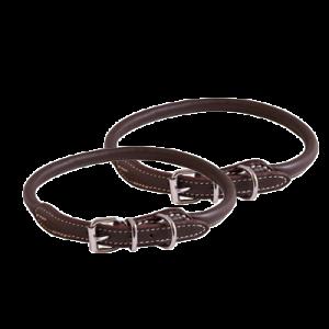 KW Walker Rundsyet Halsbånd Brun, 0,6x35 cm