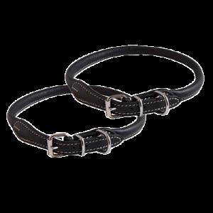 KW Walker Rundsyet Halsbånd Sort, 0,8x45 cm