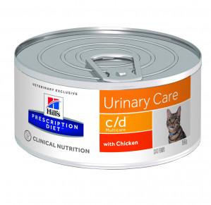 Hills Prescription Diet c/d Multicare Feline med kylling á 156 g