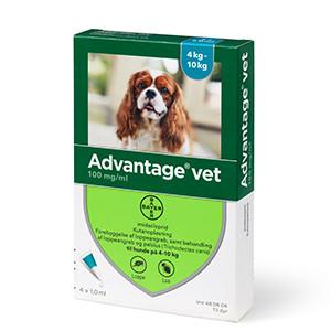 Advantage, hund 4-10 kg