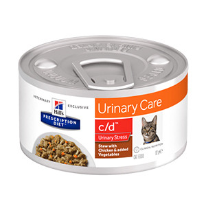 Hills PD Feline c/d UrinaryStress Stew Chicken & Vegetables