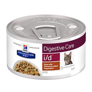 Hills PD Feline i/d Stew Chicken & Vegetables, 24x82g