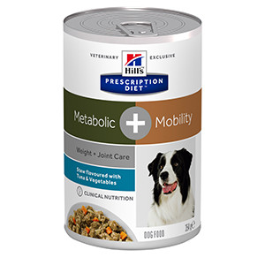 Hills PD Canine Metabolic + Mobility Stew Tuna & Vegetables, 354g