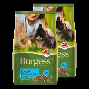 Burgess Excel foder junior- og dværgkaniner 4 kg