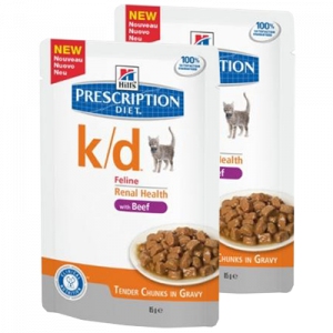 Hills Prescription Diet k/d Feline Renal Health Beef 85 gr
