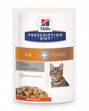 12 stk Prescription Diet k/d Feline pouch 85 gr