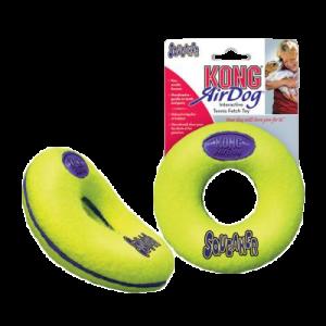 KONG AirDog Squeaker Donut tennisbold diameter 9 cm