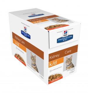 Hills Prescription Diet k/d Feline Kidney Care Chicken 12x85 g