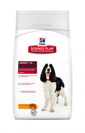 Hills Science Plan Adult Advanced Fitness Medium chicken 12 kg