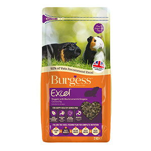 Lagersalg - Burgess Excel Marsvinfoder Solbær, Oregano 2 kg
