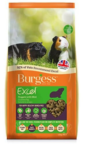 Lagersalg - Burgess Excel Marsvinfoder urter mint, 4 kg