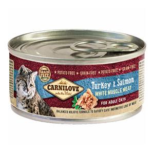 Carnilove Kat vådfoder, Kalkun & Laks