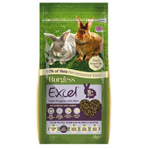 Lagersalg - Burgess Excel Kaninfoder light 2 kg