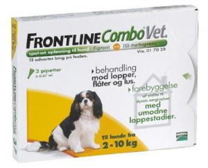 Frontline Combo hund 2 - 10 kg, 3 stk.